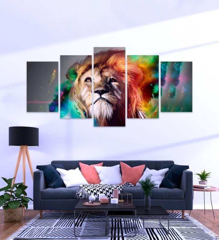 Quadro Mosaico Leão - Quadros Decorativos -1