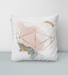 Almofada Coração Geométrico - Almofadas -1
