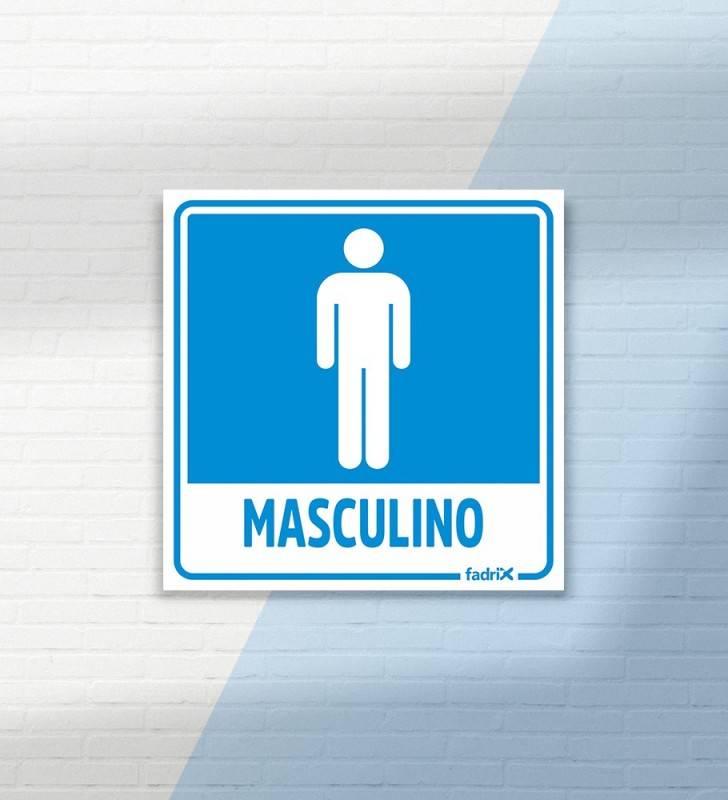 Placa Banheiro Masculino - Placas Informativas -1