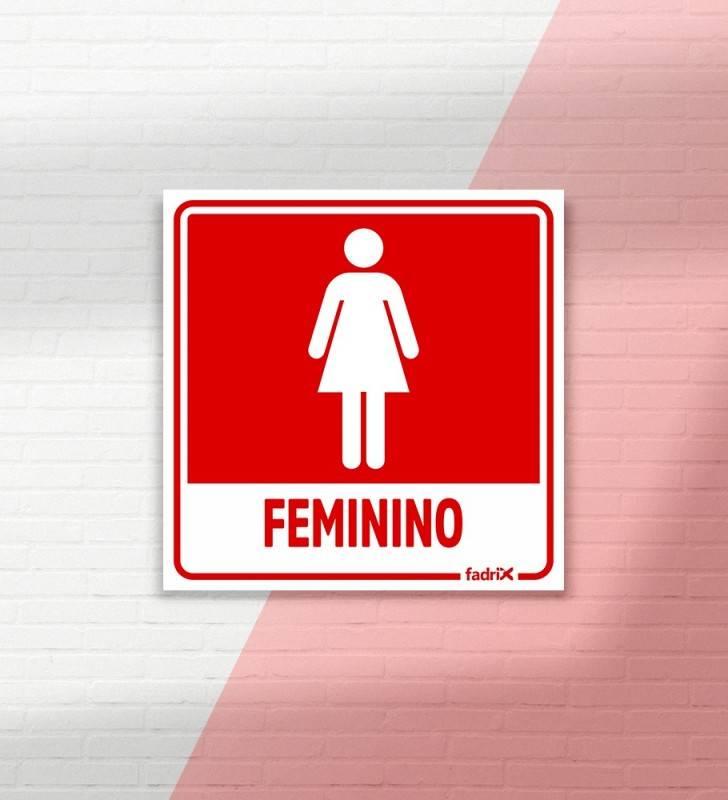 Placa Banheiro Feminino - Placas Informativas -1