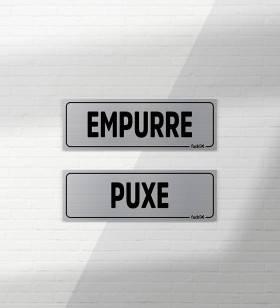 Kit Placas Puxe / Empurre - Placas Informativas -1