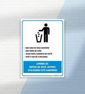 Placa Regras Banheiro Masculino - Placas Informativas -1