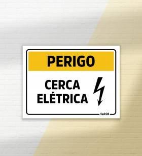 Placa Perigo Cerca Elétrica - Placas Informativas -1