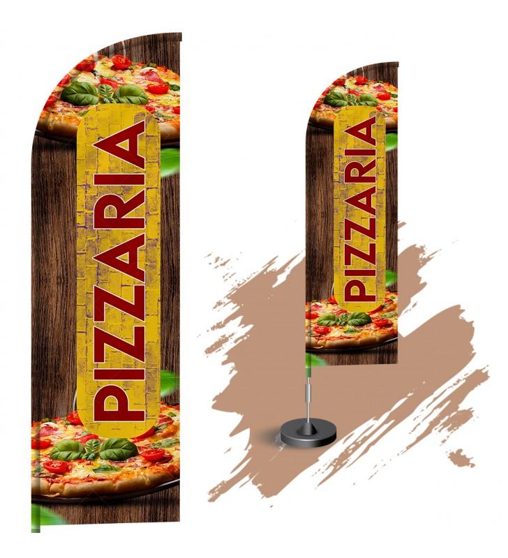 Wind Banner Completo 3mt - Pizzaria